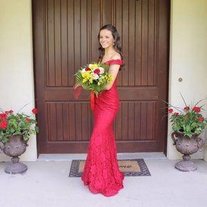 Clarisse Red Prom Dress